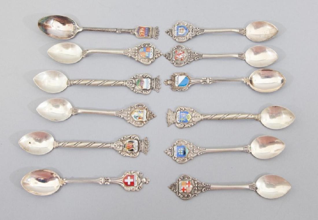 Box Set Sterling Silver 915 Spain Souvenir Spoons