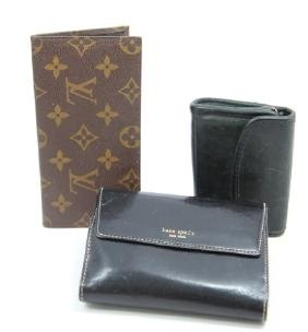 Group of Leather Wallets Vuitton Coach Kate Spade