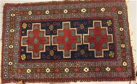 Antique Persian / Oriental Rug in Reds & Blues