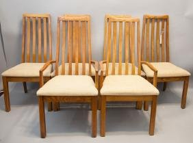 Set of Six Mid Century Modern Dining Room Chairs