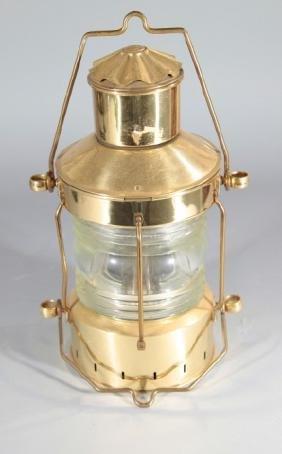 Ankerlight Brass ~ Glass Kerosene Ship Lantern