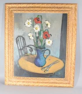 Claude Aliotti Signed Oil Painting on Canvas