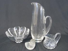 Designer Art Glass Table Items -Baccarat & Steuben