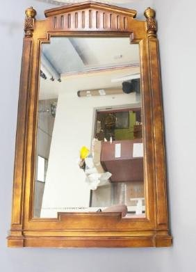 Large Wood Framed Empire-Style Mirror