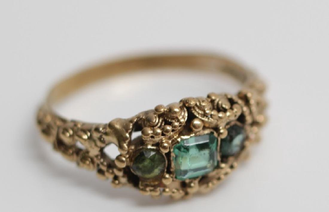 Antique 19th C English Victorian 15kt Gold Ring
