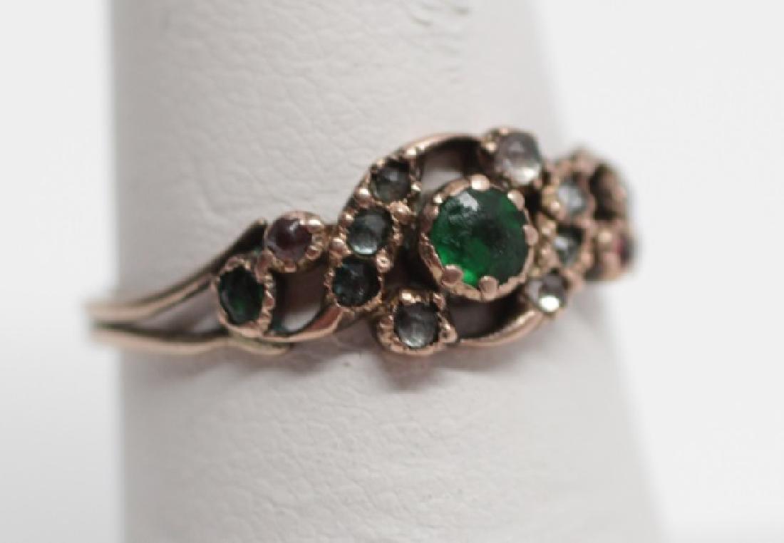 Antique 19th C English Victorian 14kt Diamond Ring