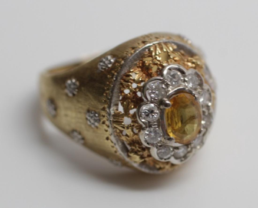 Estate Mario Buccellati Style Gold & Diamond Ring