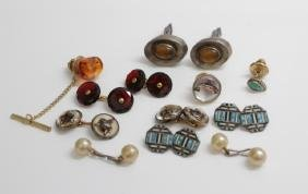 Collection of Antique & Vintage Cuff Links & Pins