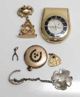 Antique Fobs, 14k Charms, Locket, Le Coultre Watch