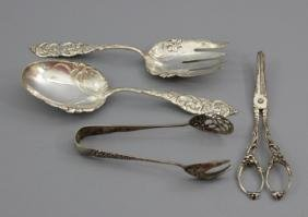 Assorted Sterling Silver Serving Items & Shears