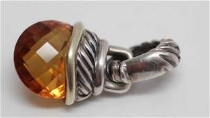 14k YG  Sterling David Yurman Citrine Pendant