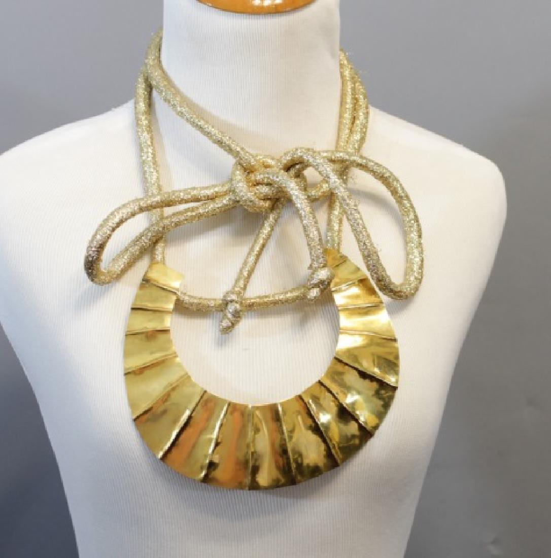 Vintage Mary McFadden Hand Crafted Necklace