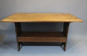 Antique French Country Hinge/Peg Bench Table