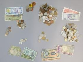 Collection of Coin & Paper Foreign Currencies