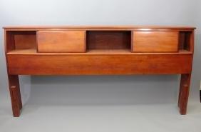 Mid Century Modern Wooden Bookcase Headboard