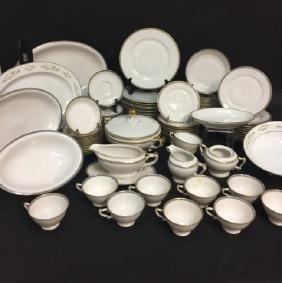 Large Porcelain Dinner Service w Serving Pieces