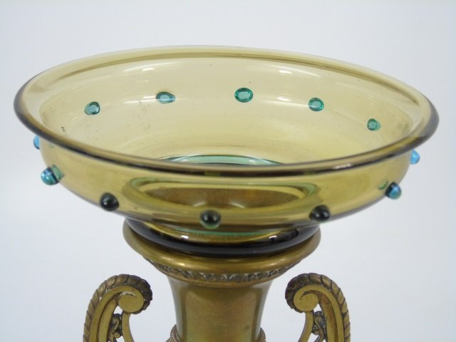 Antique 19th C Victorian Gilt Bronze Putti Vase - 2