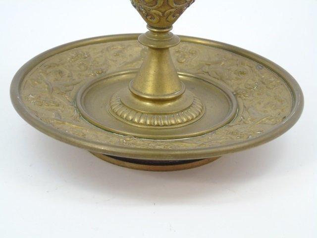 Antique 19th C Victorian Gilt Bronze Putti Vase - 4