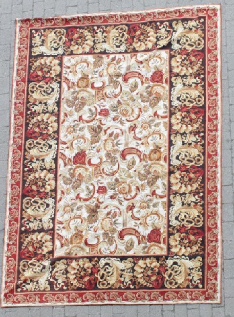 Large French Style Needlepoint Tapestry Carpet