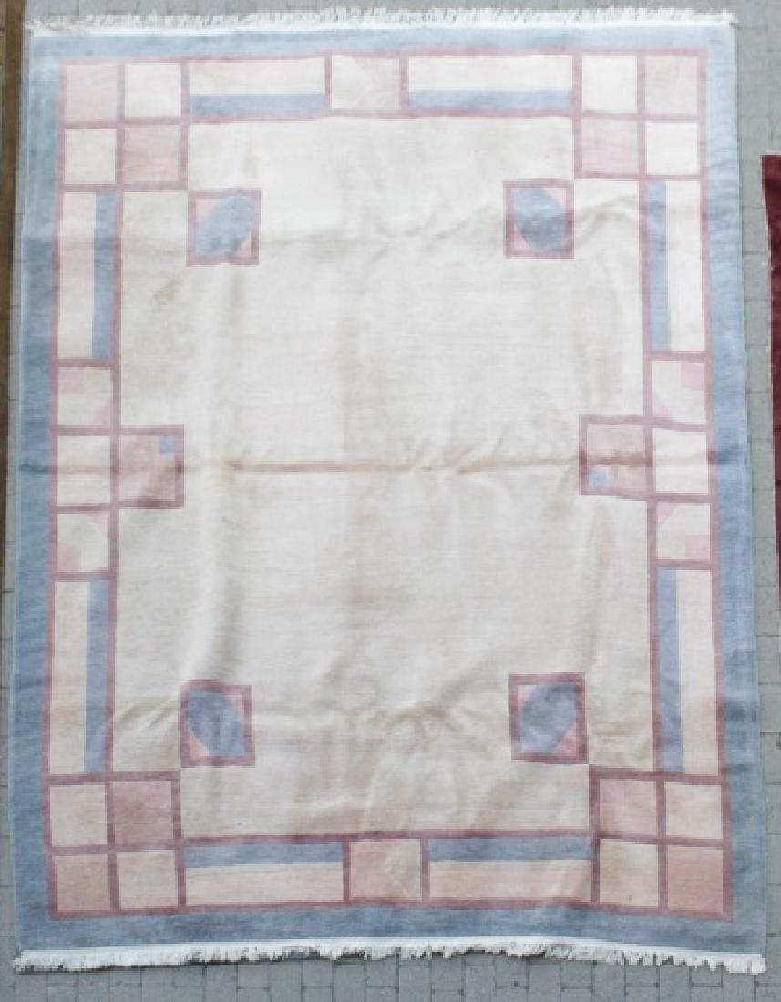 Contemporary Traditional Carpet Geometric Pattern