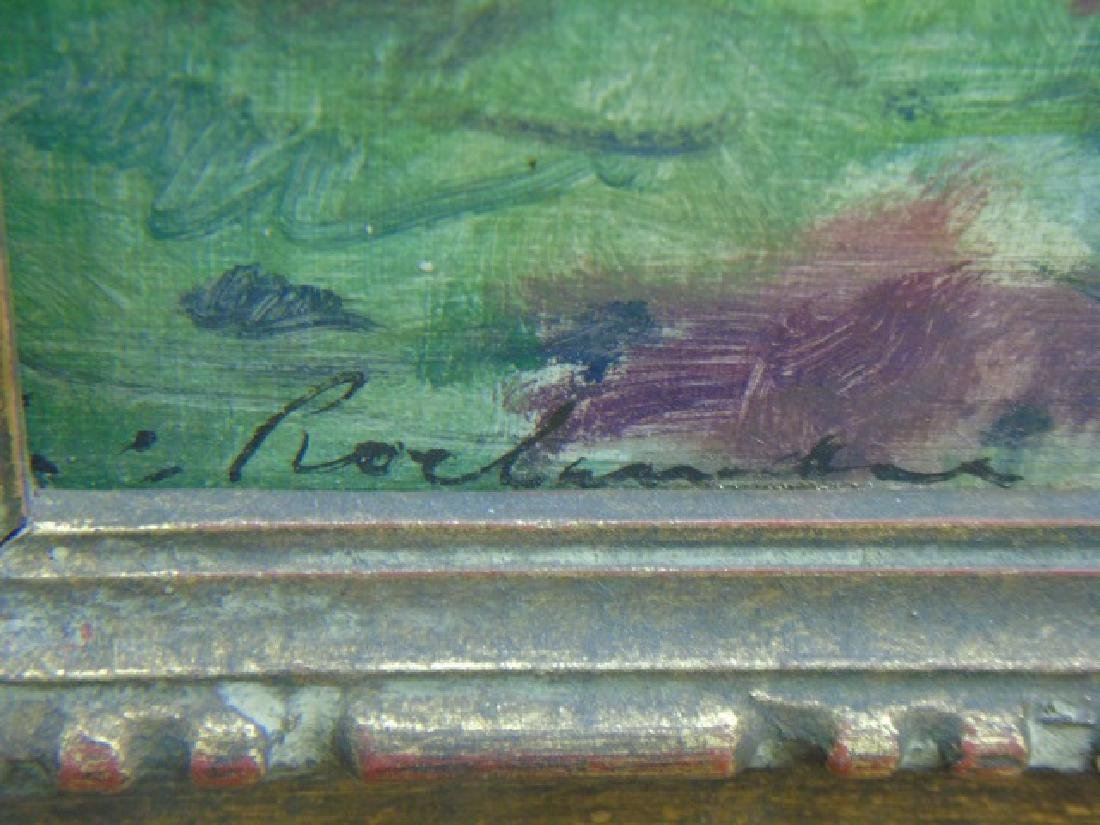 Evert Jan Ligtelign Oil on Canvas River Scene - 3