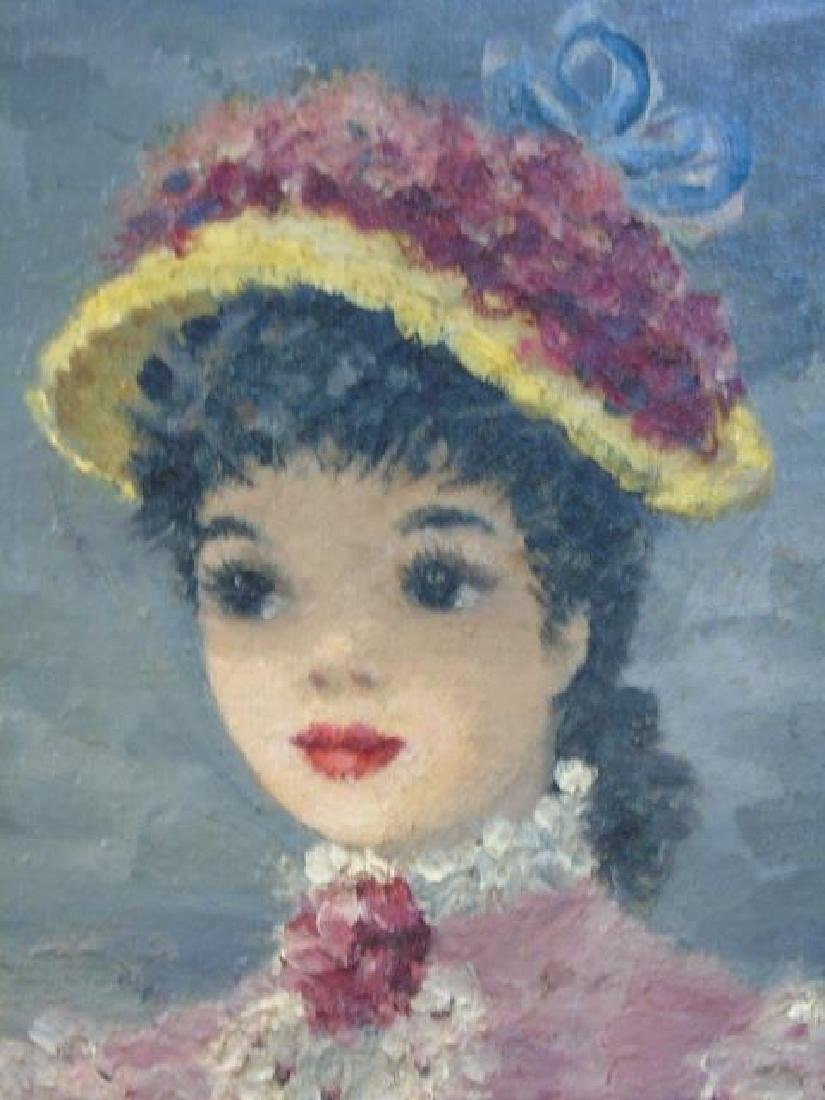 Suzanne Disedieck Oil on Canvas Young Lady in Pink - 2