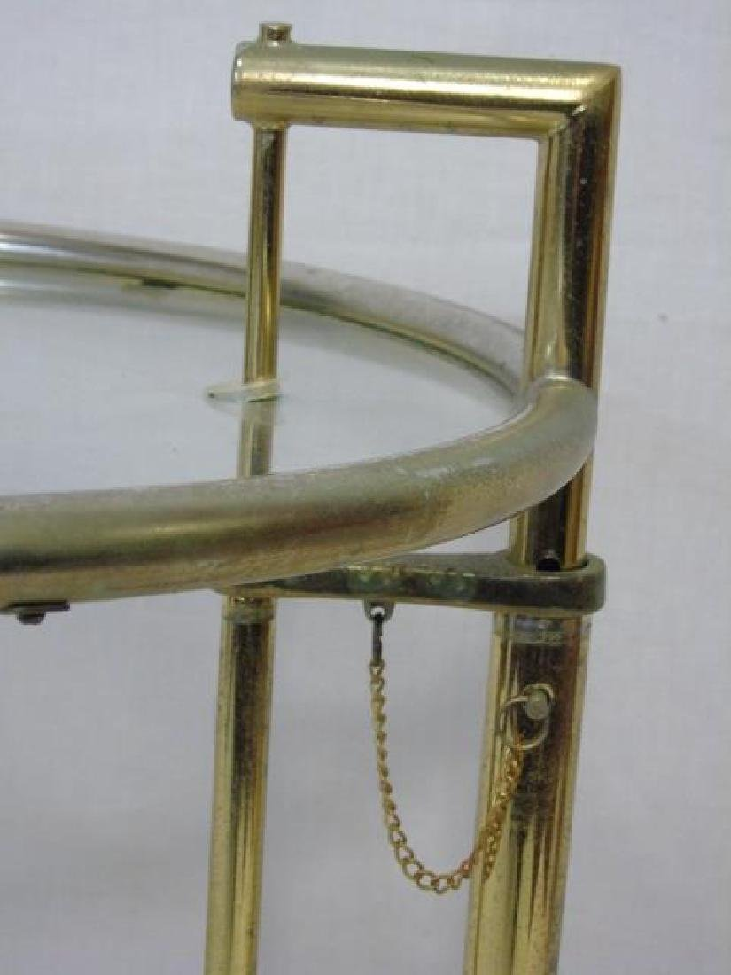 Contemporary Modern Silver Tone & Glass Table - 4