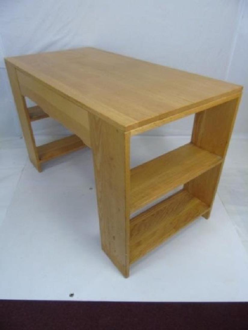 Custom Contemporary Modern Carved Oak Desk - 2
