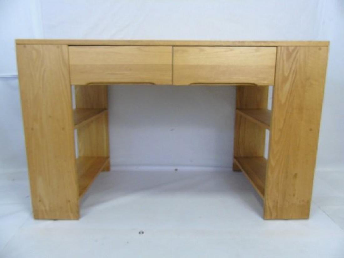 Custom Contemporary Modern Carved Oak Desk - 3