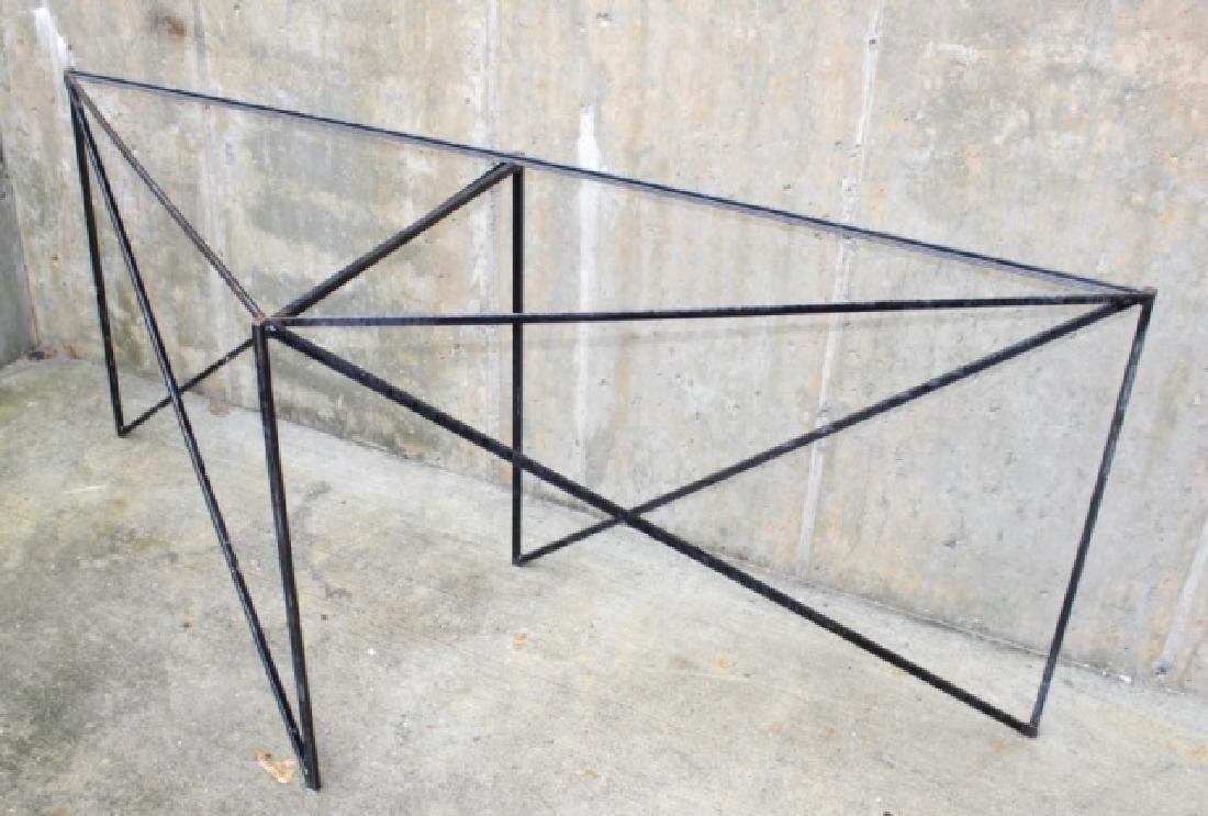 Wrought Iron Triangle Outdoor / Patio Table Base