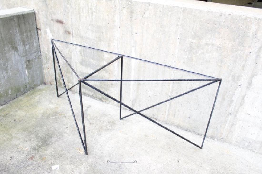 Wrought Iron Triangle Outdoor / Patio Table Base - 2