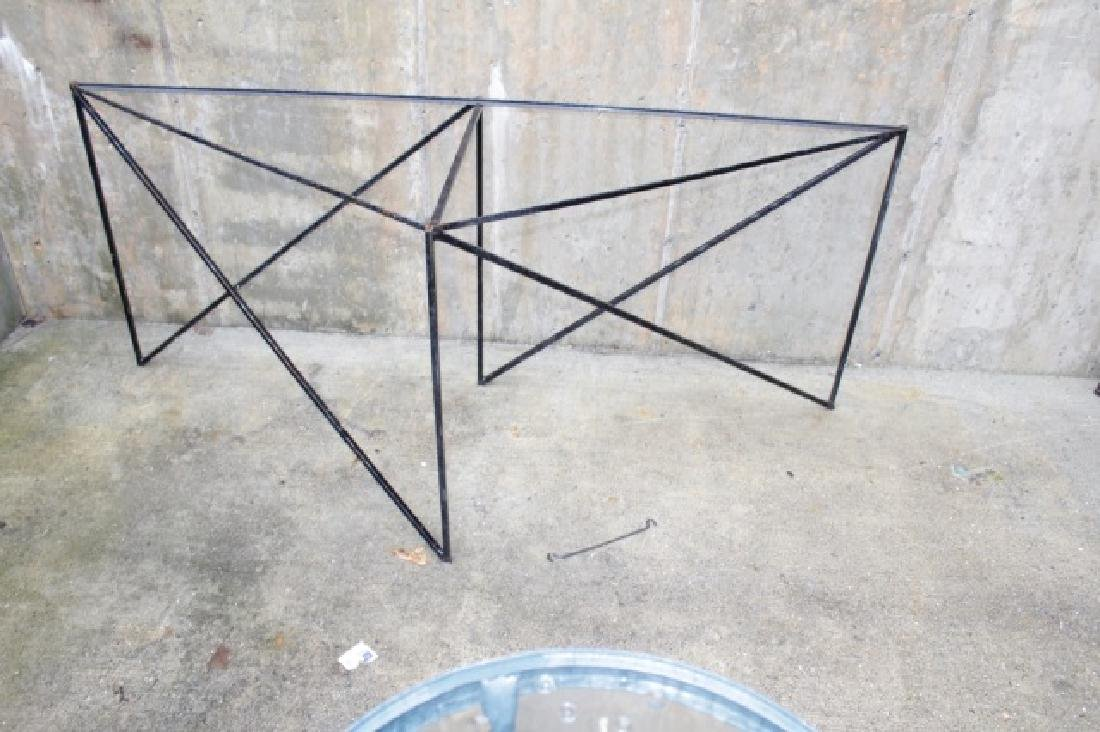 Wrought Iron Triangle Outdoor / Patio Table Base - 3