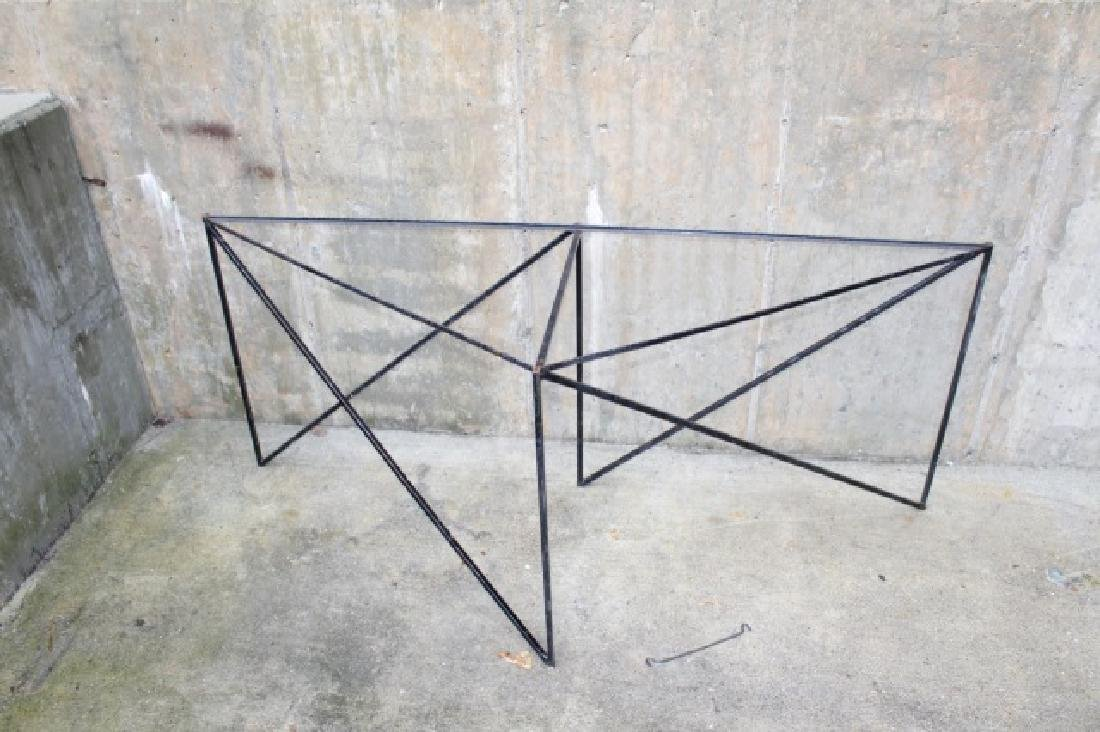 Wrought Iron Triangle Outdoor / Patio Table Base - 4