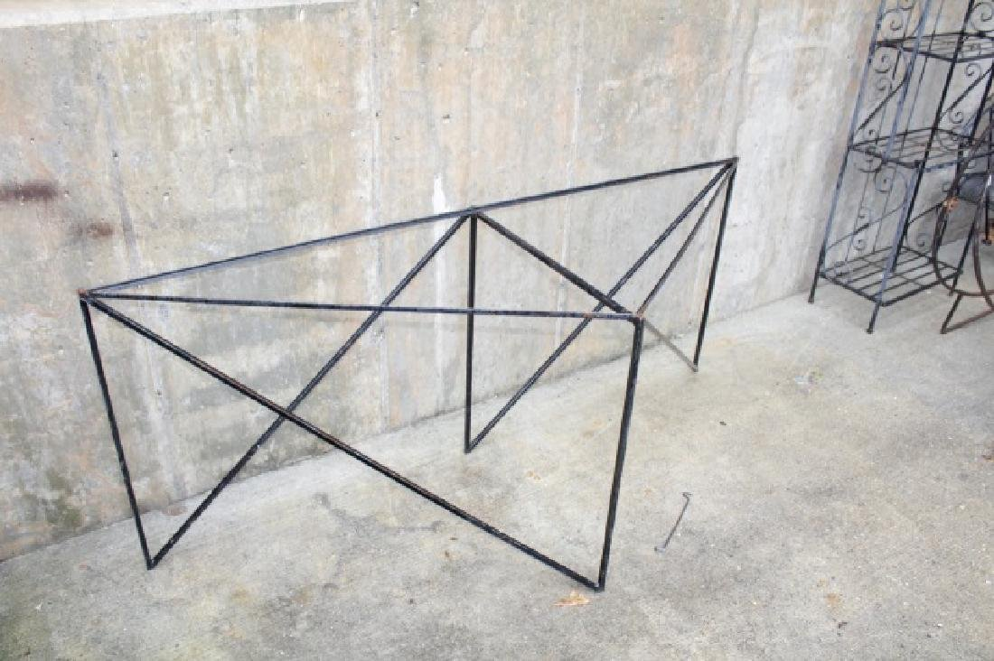 Wrought Iron Triangle Outdoor / Patio Table Base - 5