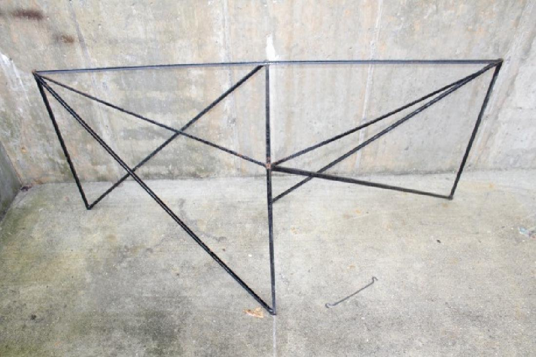 Wrought Iron Triangle Outdoor / Patio Table Base - 7
