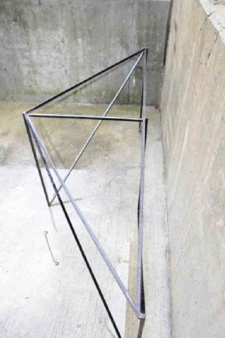 Wrought Iron Triangle Outdoor / Patio Table Base - 8