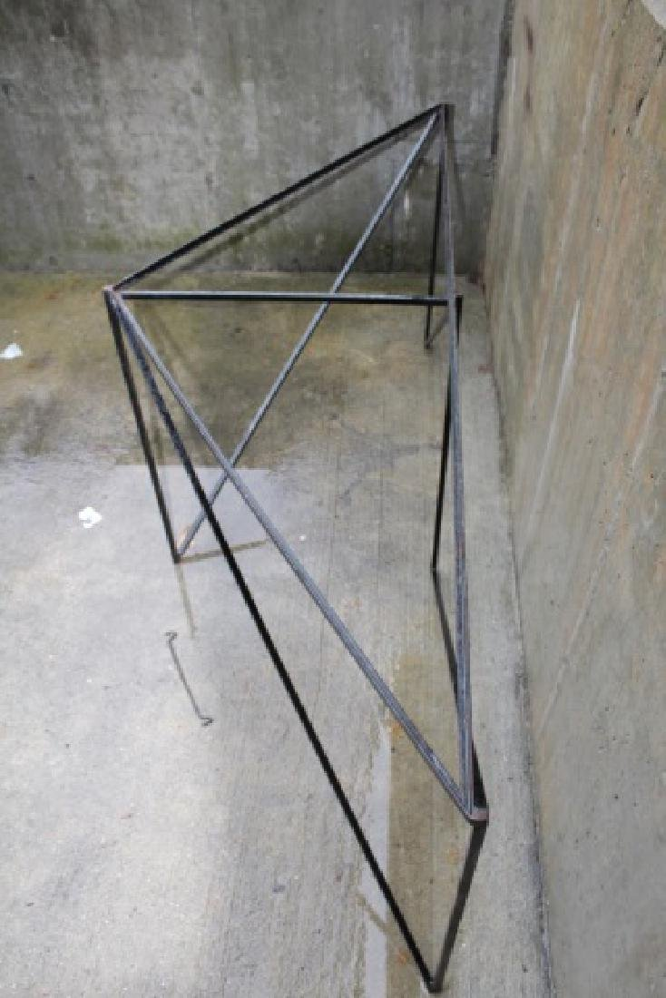 Wrought Iron Triangle Outdoor / Patio Table Base - 9