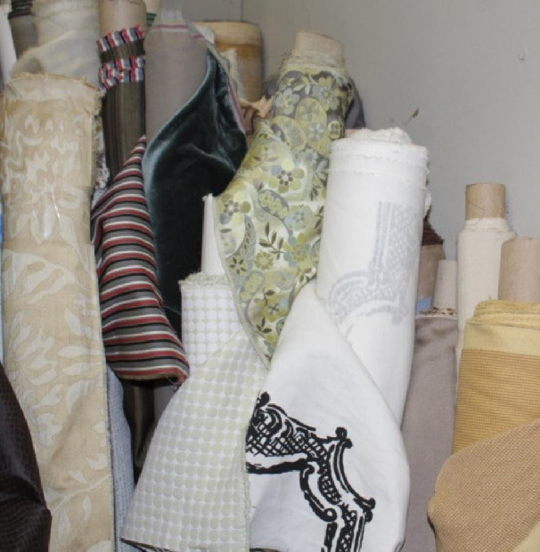 Large Collection of Designer Fabric Rolls