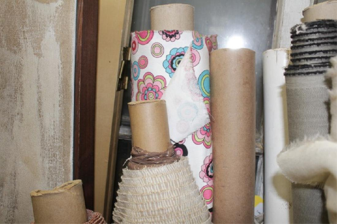 Large Collection of Designer Fabric Rolls - 2