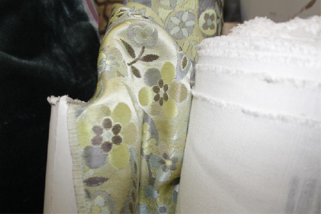 Large Collection of Designer Fabric Rolls - 6