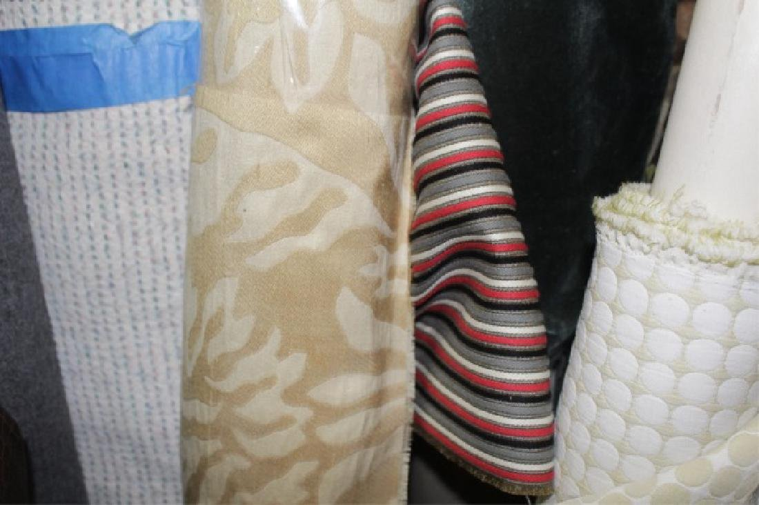 Large Collection of Designer Fabric Rolls - 9