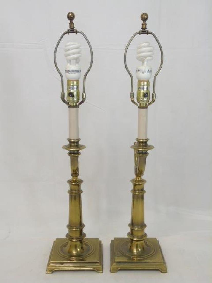 Pair of Steiffel Brass Horn-Design Lamps - 3