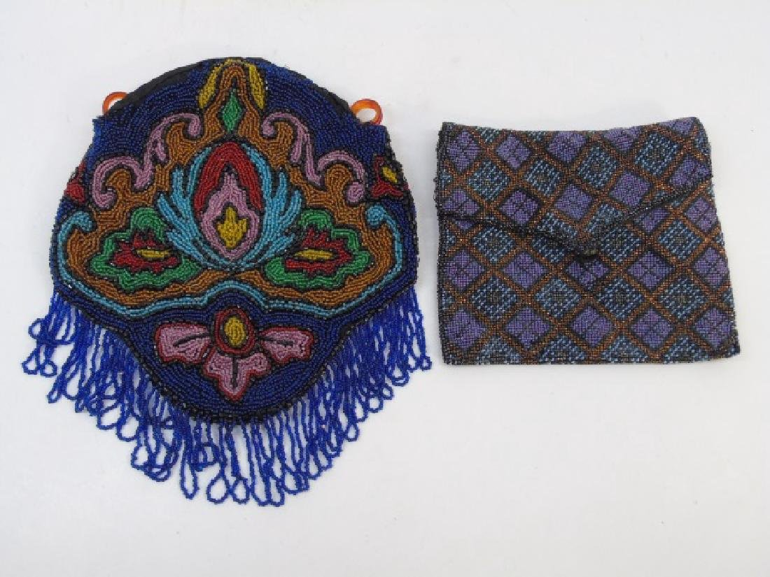 Two Vintage Beaded Ladies Purses / Hand Bags