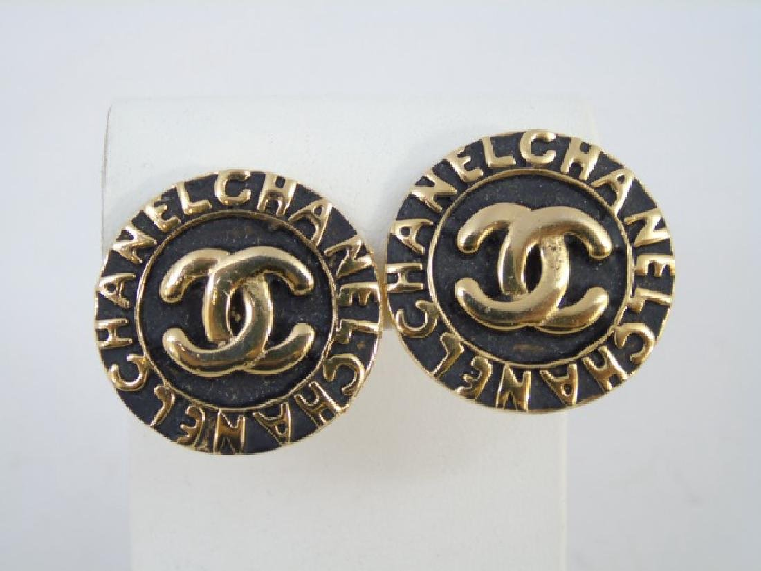 Two Pairs Chanel Clip on Costume Jewelry Earrings - 3