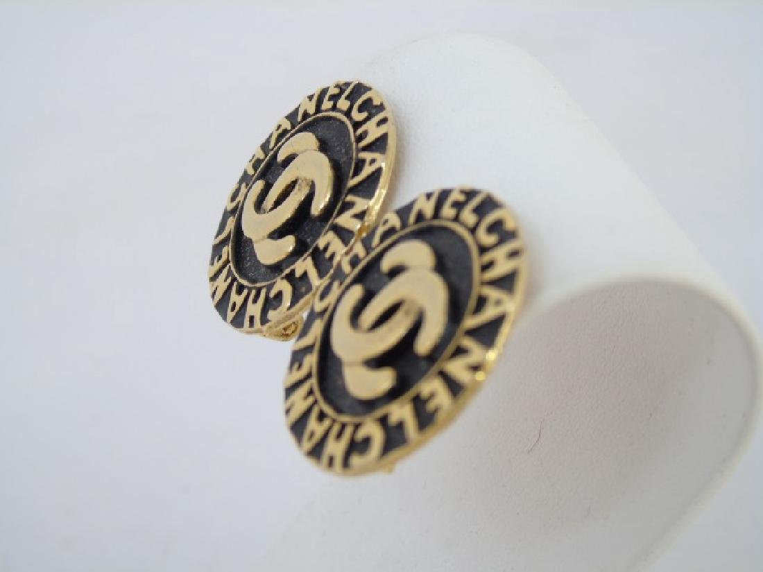 Two Pairs Chanel Clip on Costume Jewelry Earrings - 4