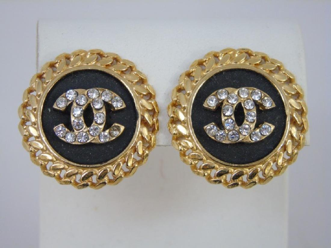 Two Pairs Chanel Clip on Costume Jewelry Earrings - 5