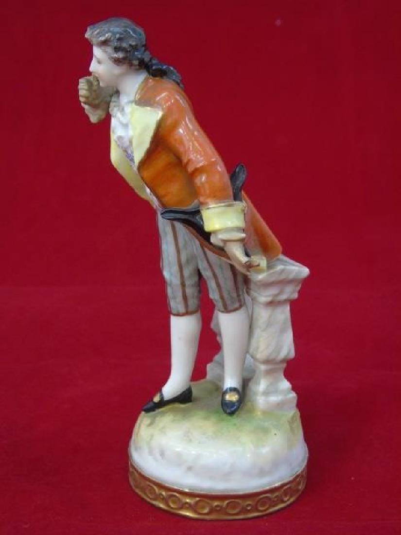 Antique Meissen Style Porcelain Figure Man Bowing - 3