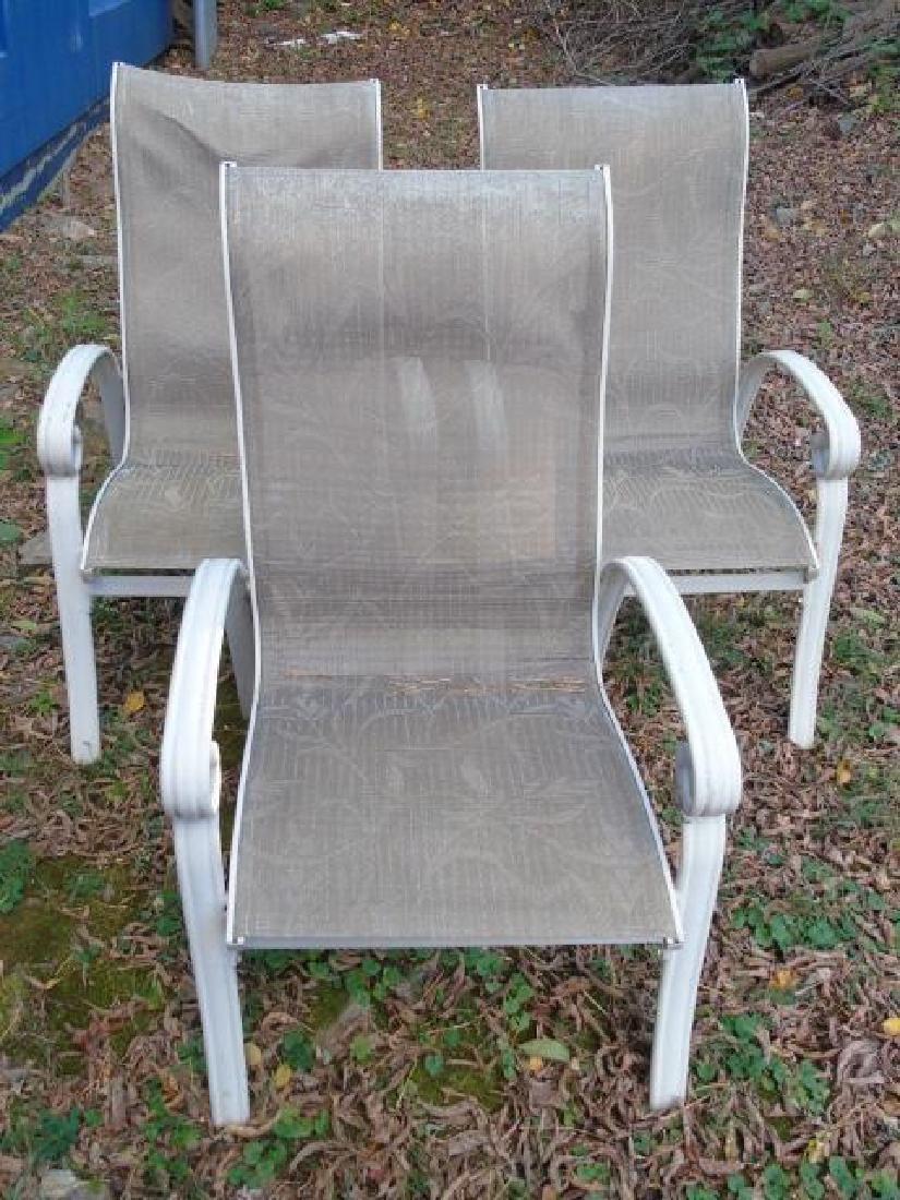 Set of Three Outdoor / Patio / Garden Armchairs