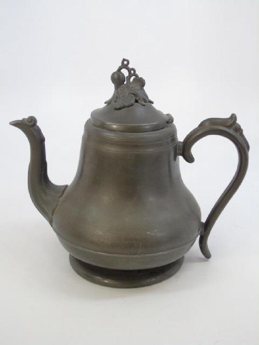 Antique 5 Piece Silver Plate Tea Set w Berry Motif - 5