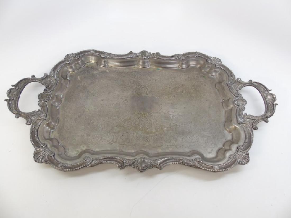 Antique 5 Piece Silver Plate Tea Set w Berry Motif - 8